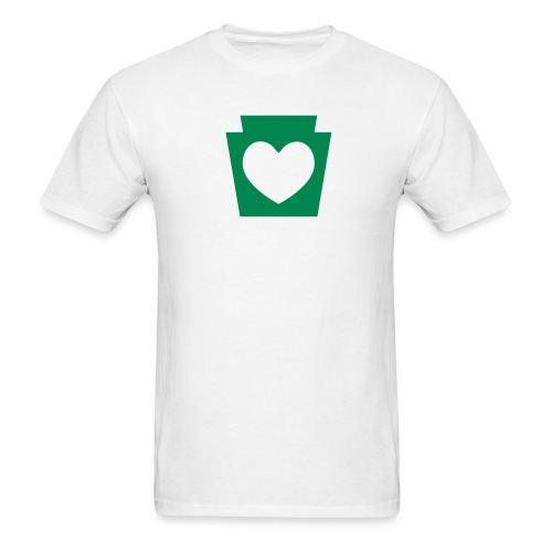 PA Keystone w/Heart - Men's T-Shirt