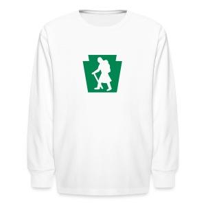 PA Keystone w/Female Hiker - Kids' Long Sleeve T-Shirt