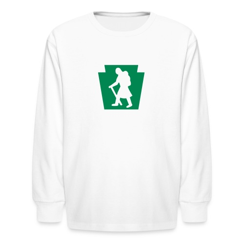 PA Keystone w/Female Hiker - Kids' Long Sleeve T-Shirt