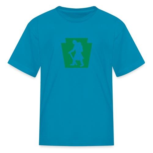 PA Keystone w/Female Hiker - Kids' T-Shirt