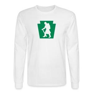 PA Keystone w/Female Hiker - Men's Long Sleeve T-Shirt