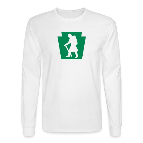 PA Keystone w/Female Hiker - Men's Long Sleeve T-Shirt