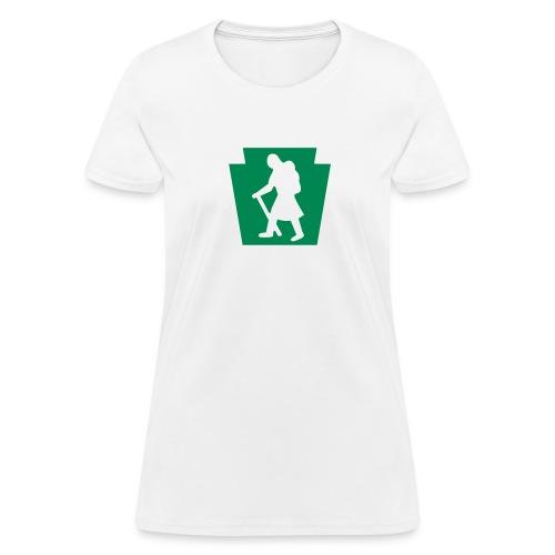 PA Keystone w/Female Hiker - Women's T-Shirt