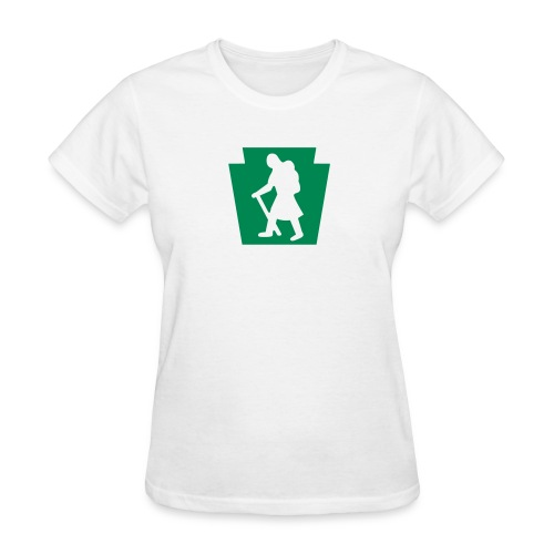 PA Keystone w/Female Hiker - Women's T-Shirt