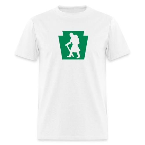 PA Keystone w/Female Hiker - Men's T-Shirt