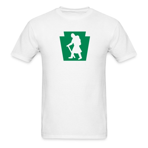 PA Keystone w/Female Hiker - Men's T-Shirt
