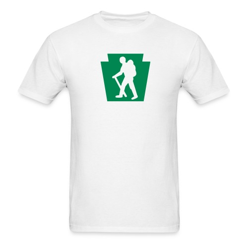 PA Keystone w/Male Hiker - Men's T-Shirt