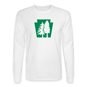 PA Keystone w/Trees - Men's Long Sleeve T-Shirt