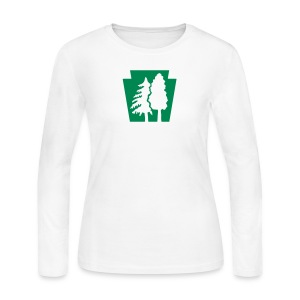 PA Keystone w/Trees - Women's Long Sleeve Jersey T-Shirt
