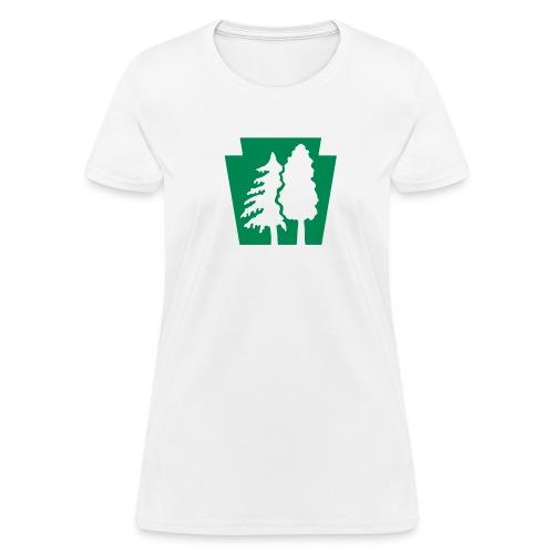 PA Keystone w/Trees - Women's T-Shirt