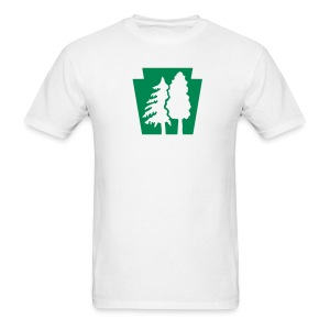 PA Keystone w/Trees - Men's T-Shirt