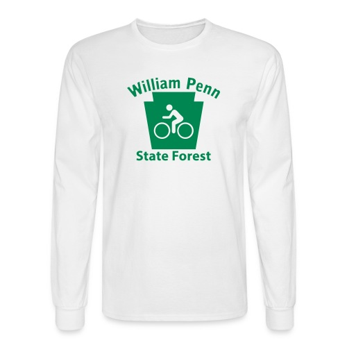 William Penn State Forest Keystone Biker - Men's Long Sleeve T-Shirt