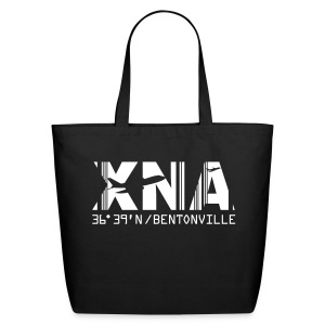 Bentonville Arkansas Airport Code XNA Tote/Beach Black - Eco-Friendly Cotton Tote