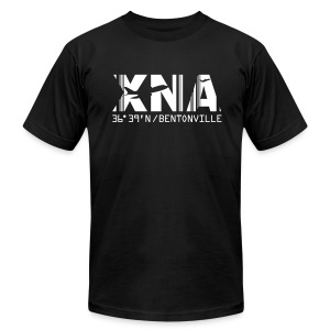 Bentonville Arkansas Airport Code XNA Men's T-shirt Black - Men's Fine Jersey T-Shirt