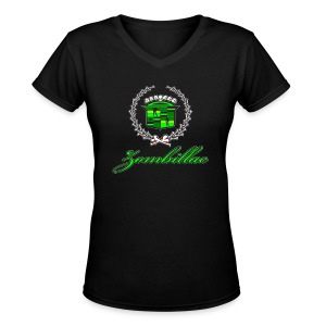 Zombillac - Women's V-Neck T-Shirt