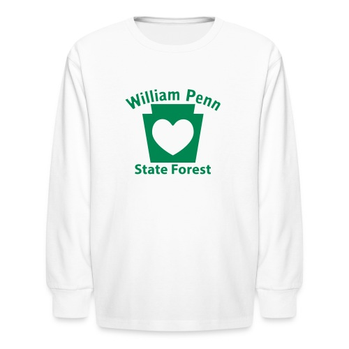 William Penn State Forest Keystone Heart - Kids' Long Sleeve T-Shirt