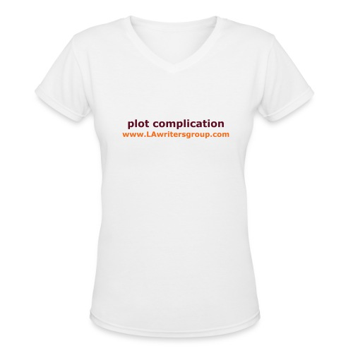 plot complication women's t-shirt - Women's V-Neck T-Shirt