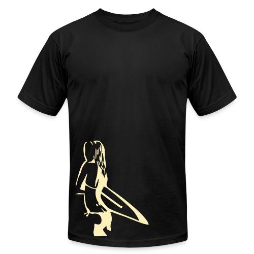 Surfer Chick Pour Homme - Men's Fine Jersey T-Shirt