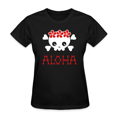 Black Aloha skull (dark shirts) Women's T-Shirts