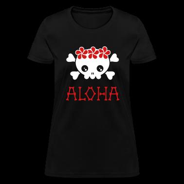 Black Aloha skull (dark shirts) Women's T-Shirts
