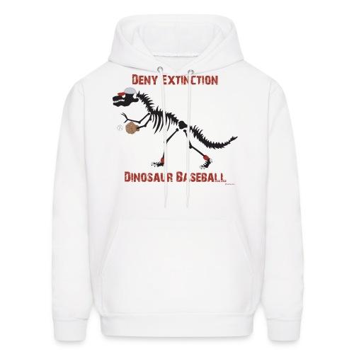 Dino Baseball Red Deny Extinction Hoodie - Men's Hoodie