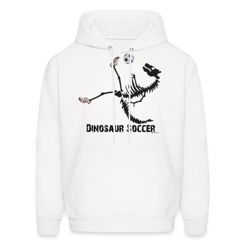 Dino Soccer Black-print Hoodie - Men's Hoodie