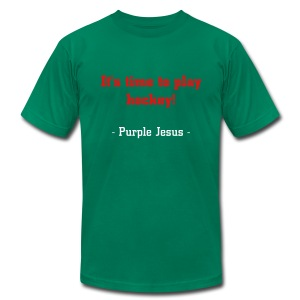 It's time to play hockey - Men's T-Shirt by American Apparel