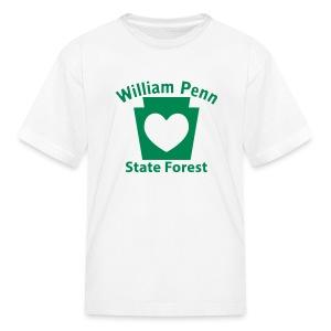 William Penn State Forest Keystone Heart - Kids' T-Shirt