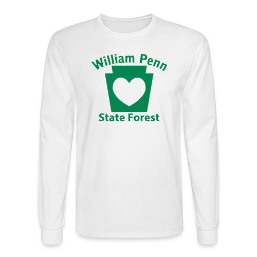 William Penn State Forest Keystone Heart - Men's Long Sleeve T-Shirt