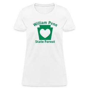 William Penn State Forest Keystone Heart - Women's T-Shirt