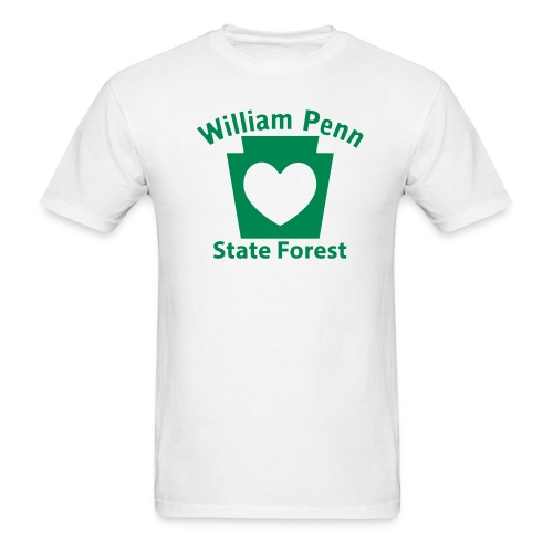 William Penn State Forest Keystone Heart - Men's T-Shirt