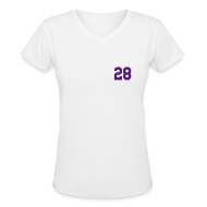 T-Shirts ~ Women's V-Neck T-Shirt ~ Purple Jesus - Females