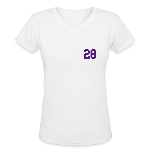 Purple Jesus - Females - Women's V-Neck T-Shirt