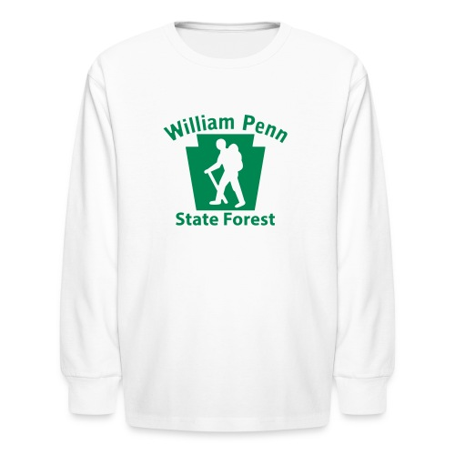 William Penn State Forest Hiker (Male) - Kids' Long Sleeve T-Shirt