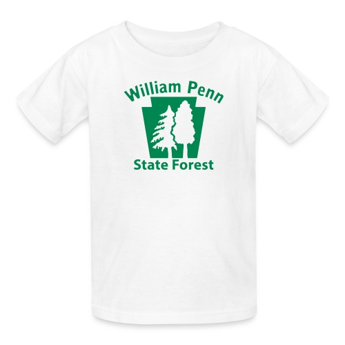 William Penn State Forest Keystone w/trees - Kids' T-Shirt