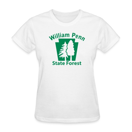 William Penn State Forest Keystone w/trees - Women's T-Shirt