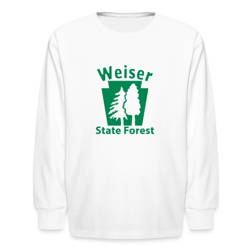 Weiser State Forest Keystone w/Trees - Kids' Long Sleeve T-Shirt