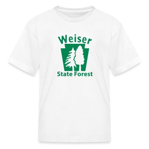 Weiser State Forest Keystone w/Trees - Kids' T-Shirt