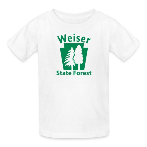 Weiser State Forest Keystone w/Trees - Kids' T-Shirt