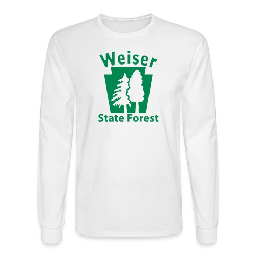 Weiser State Forest Keystone w/Trees - Men's Long Sleeve T-Shirt