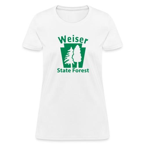 Weiser State Forest Keystone w/Trees - Women's T-Shirt