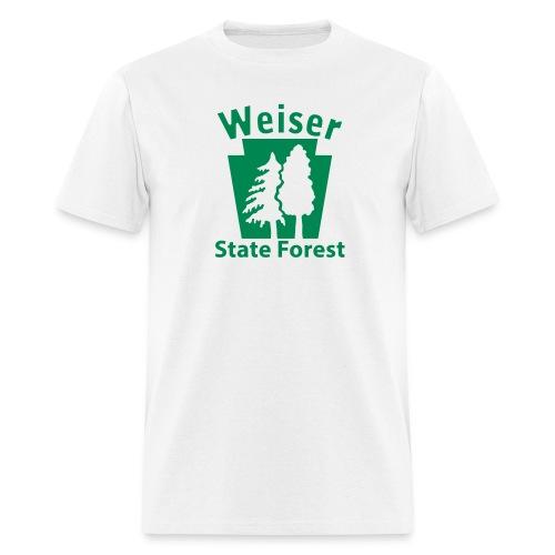 Weiser State Forest Keystone w/Trees - Men's T-Shirt
