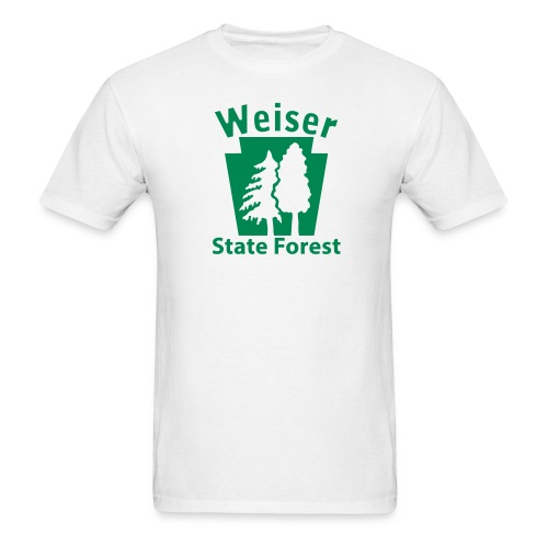Weiser State Forest Keystone w/Trees - Men's T-Shirt