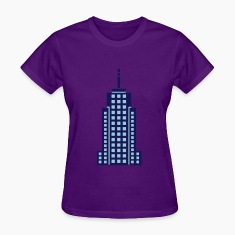 Light blue Skyscraper Building Women's T-Shirts