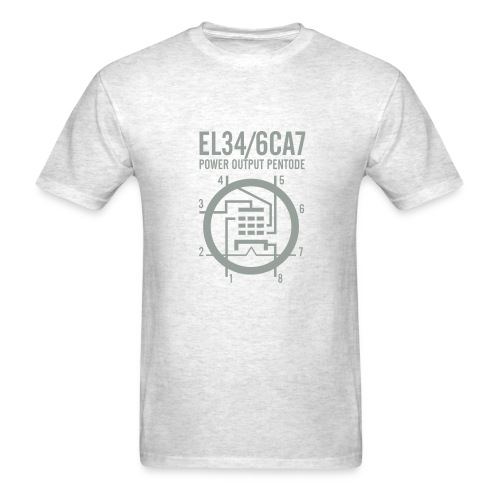 EL34 Silver Gray Schematic T-Shirt - Men's T-Shirt