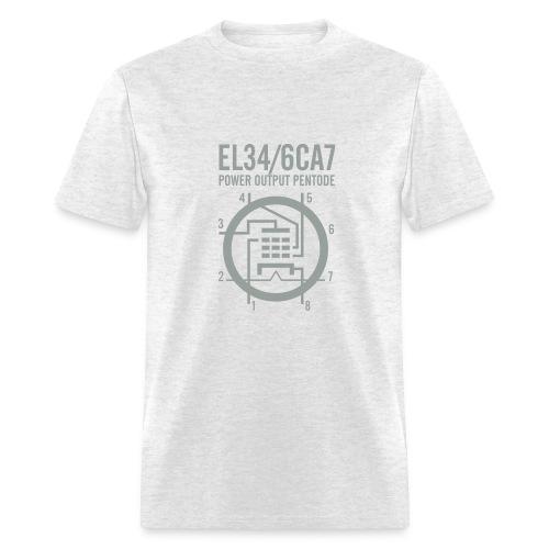 EL34 Silver Gray Schematic T-Shirt - Men's T-Shirt