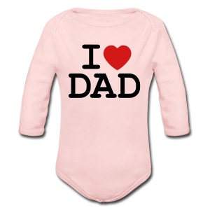 I Heart My Dad - Long Sleeve Baby Bodysuit