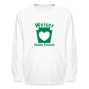 Weiser State Forest Keystone w/Heart - Kids' Long Sleeve T-Shirt