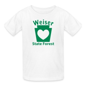 Weiser State Forest Keystone w/Heart - Kids' T-Shirt