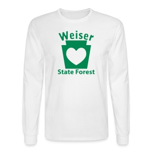 Weiser State Forest Keystone w/Heart - Men's Long Sleeve T-Shirt